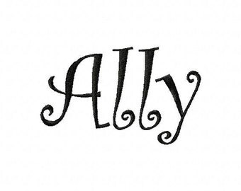 Custom Name Personalized Name Embroidery Designs - Fill Font Designs - Name in Your Choice of Font 5 sizes