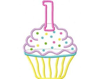 First Birthday Cake Clip Art Instant Download - Fir...