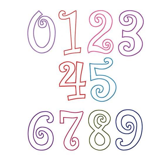 Fonts curlz applique numbers machine