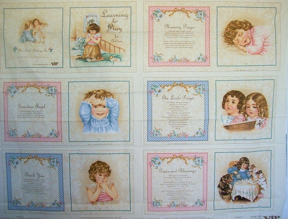 Cranston VIP A CHILD'S LULLABY Fabric Book Panel 36