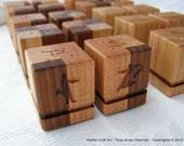 Mini salt & pepper made in reclaimed wood