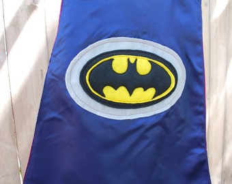 Custom Reversible Batman Superhero Cape