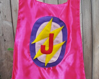 Custom Girls Reversible Super Hero Cape