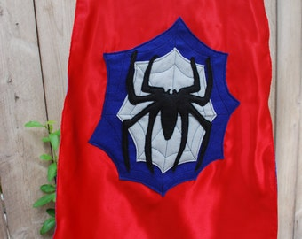 Boys Reversible Personalized Super Hero Cape: Spiderman