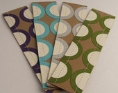 Sewn Paper Bookmarks- Waves- Set of 4