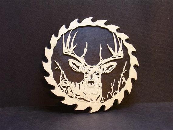 Scroll sawn Buck circle saw blade.