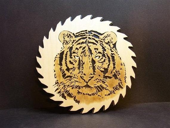 Scroll sawn Tiger circle saw blade.