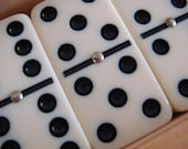 Dominos game with original midcentury modern 1970s box - TREASURY LISTED