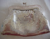 Reserved for Alyce - Glomesh chainmail silver change purse 1970s