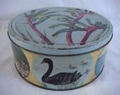 Vintage biscuit tin city of Perth, Western Australia Black Swan Kangaroo Paw Australia - TREASURY LISTED