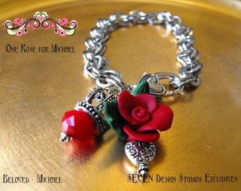 One Rose for Michael in Red - The Bracelet Version