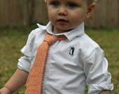 Toddler Boy Tie - Alexander Henry Garden Spirals in Apricot - Custom Sizes