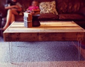Reclaimed Barnwood Wood Coffee Table with steel hairpin legs-Upcycled recycled and modern-