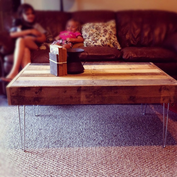 Reclaimed Wood Coffee Table Stainless Steel Legs: Items Similar To Reclaimed Barnwood Wood Coffee Table With