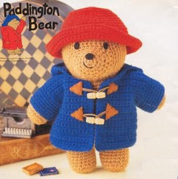 Amigurumi Paddington Bear : Items similar to amigurumi pattern crochet paddington bear ...