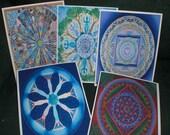 Mandala Note Cards - Set of 5