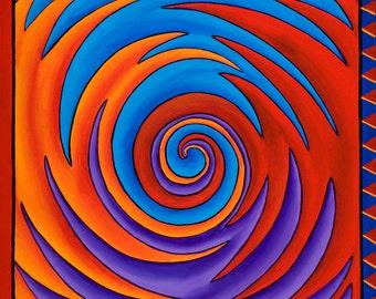 Vibrations of Hope Mandala-  archival print on photo paper