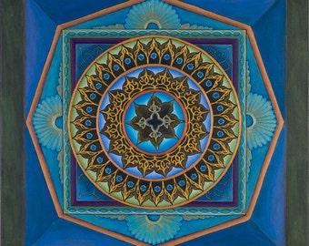 Illumination Mandala-  archival print on photo paper