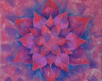 Bursting Forth Mandala-  Original Acrylic on canvas
