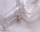 Infinity ring- 14k rose gold filled