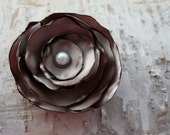 khaki taupe Satin Hair flower clip