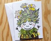 Thank You Card (Yellow) -Single Card-