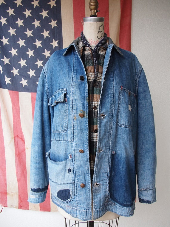 RESERVED FOR TIM: 1950's Blanket Lined Powr House Denim Chore Jacket, M/L