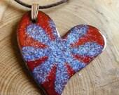 Red enamel heart pendant