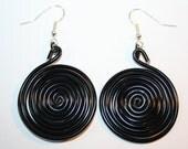 spiralled aluminium earrings