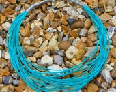 15% OFF Turqoiuse Silver Multi Looped Necklace