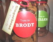 Gingerbread Dog Treats in Personalized Jar
