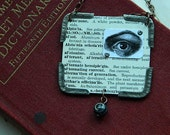 Anatomy necklace anatomical eye vintage medical dictionary Steampunk Halloween