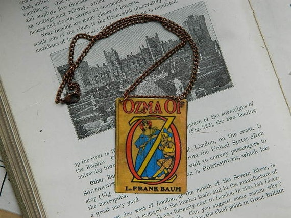 Wizard of Oz Ozma choker pendant illustration art charm and chain Steampunk Sarah Wood