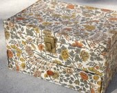 Vintage Fabric Covered Jewelry Box.