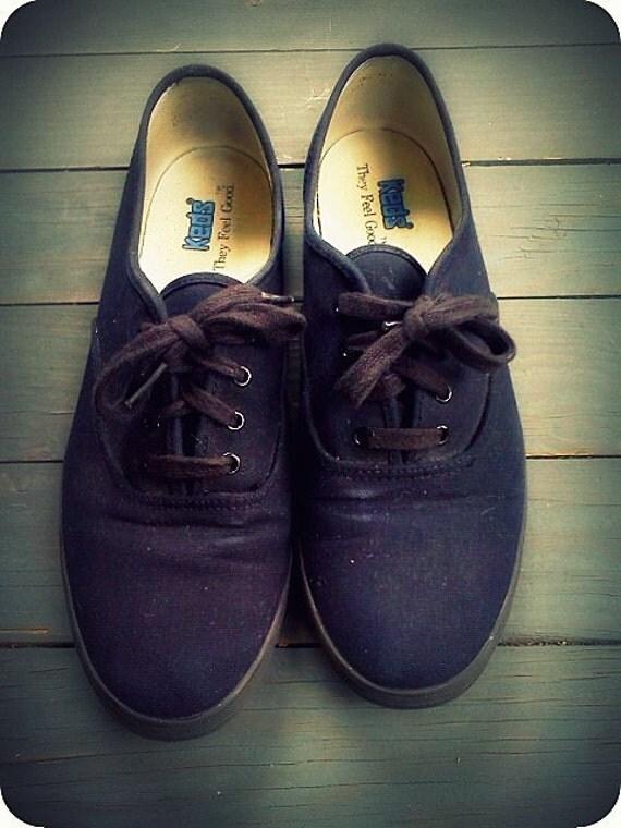 Classic Black Keds Size 9.5