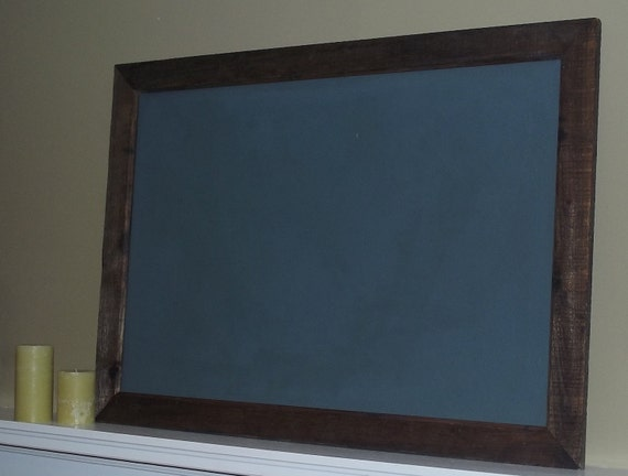 Items Similar To Large Chalkboard Framed Rustic Hanging
