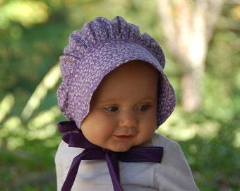 Purple Baby Bonnet