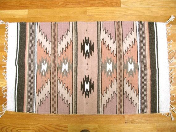 Vintage handwoven rug 16