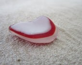 Red Flash Sea glass jewelry supplies or collectible (sp34)