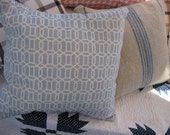 RESERVED LISTING for andrearenee55 - light blue and white modern geometric square pillow - limited quantity