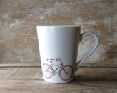Mug with Steampunk Man And Bicycle