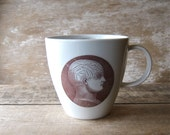 Mug with Phrenology Chart and Skulls Left or Right Handed