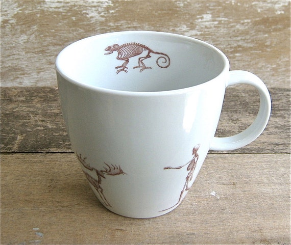 Mug with Skeletons Chameleon Elk Snake Man