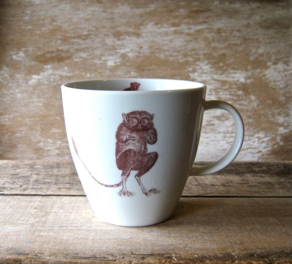 Mug with Tarsier and Loris Discounted Second