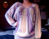 1980s Purple Scale Sweater