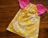 Girl's Birds of a Feather Pocket Dress--Size 12m--READY TO SHIP--Reduced Price!!