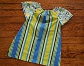 Girl's Cool Summer Stripes Pocket Dress--Size 3T--READY TO SHIP--Reduced Price!!