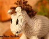 Cinnamon: Baby Pony Girl's Stuffed Animal Knitted Horse Filly Colt Natural Waldorf Toy