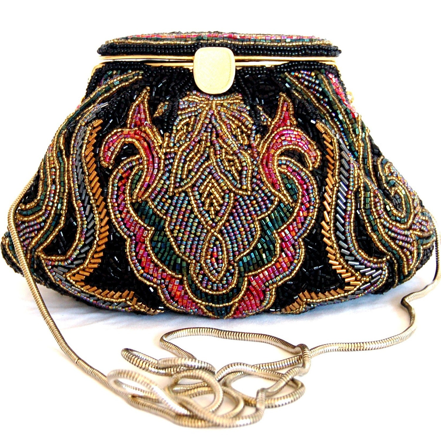 vintage beaded purse laregale