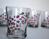 Hot Pink Cheetah Print Lowball Set - Made to Order